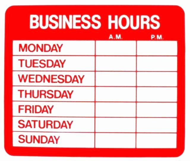 Office Hours Sign Template Lovely Fice Hours Sign Template Word Relevant Principal Imagine