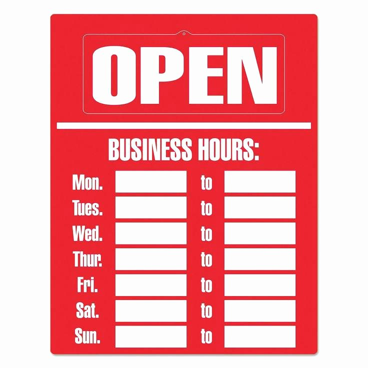 Office Hours Sign Template Lovely Template for Business Hours Sign C7f7107b0c50 Proshredelite