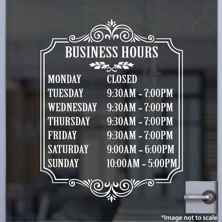 Office Hours Sign Template New Bakeries Vinyls and Shops On Pinterest