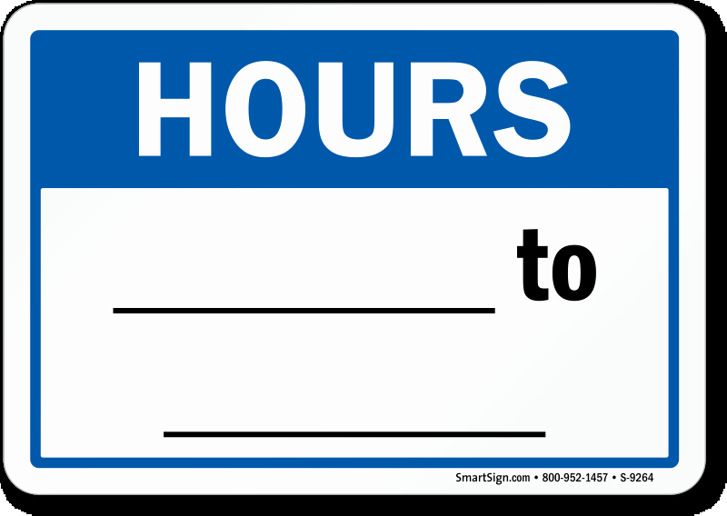 Office Hours Sign Template New Business Hours Signs