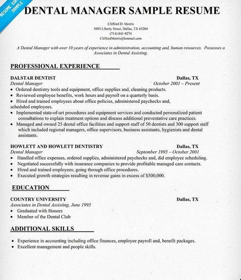 Office Manager Resume Template Beautiful Dental Fice Manager Resume Sample