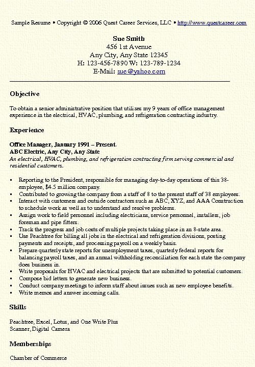 Office Manager Resume Template Elegant Fice Manager Resume Example Free Professional Document