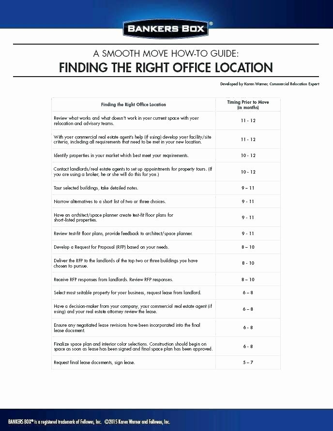 Office Move Checklist Template Lovely Fice Move Checklist Excel Project Plan Inventory