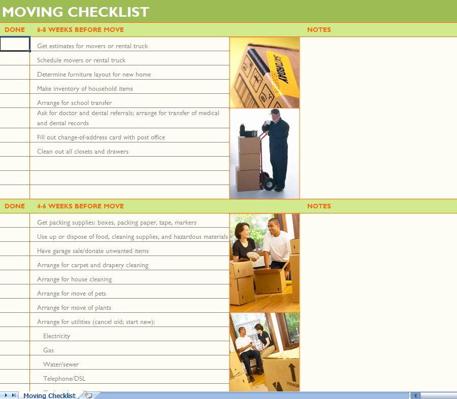 Office Move Checklist Template Unique Moving Checklist Moving Day Pinterest