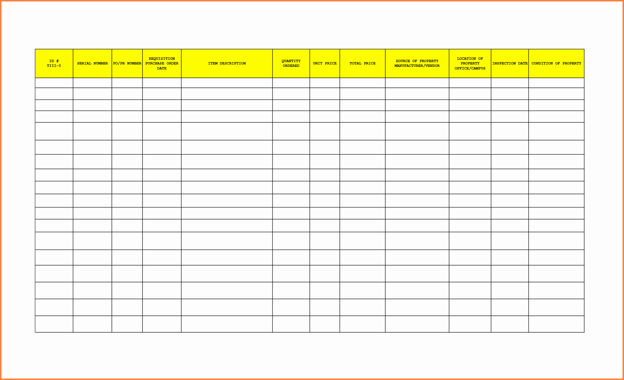 Office Supplies Inventory Template Fresh 8 Office Supplies Inventory Spreadsheet