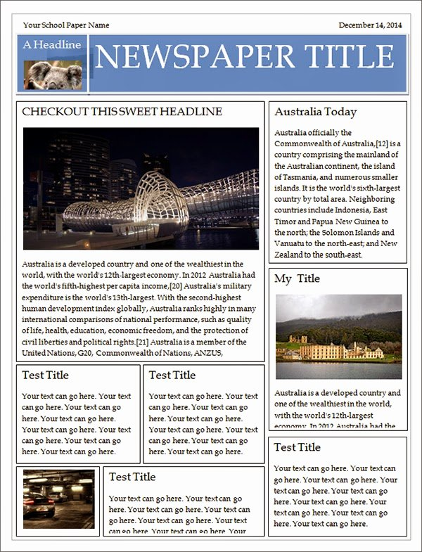 Old Newspaper Template Word Fresh Best Newspaper Templates Free Download
