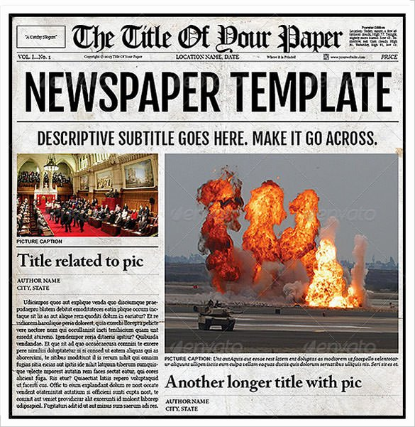 Old Newspaper Template Word Fresh Old Newspaper Template 11 Download Documents In Pdf