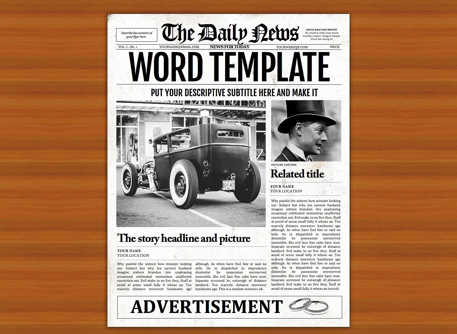Old Newspaper Template Word Fresh Vintage Word Newspaper Template Flyer Templates