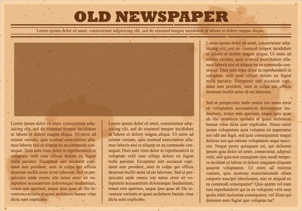 Old Newspaper Template Word Unique 52 Printable Newspaper Templates Psd Apple Pages