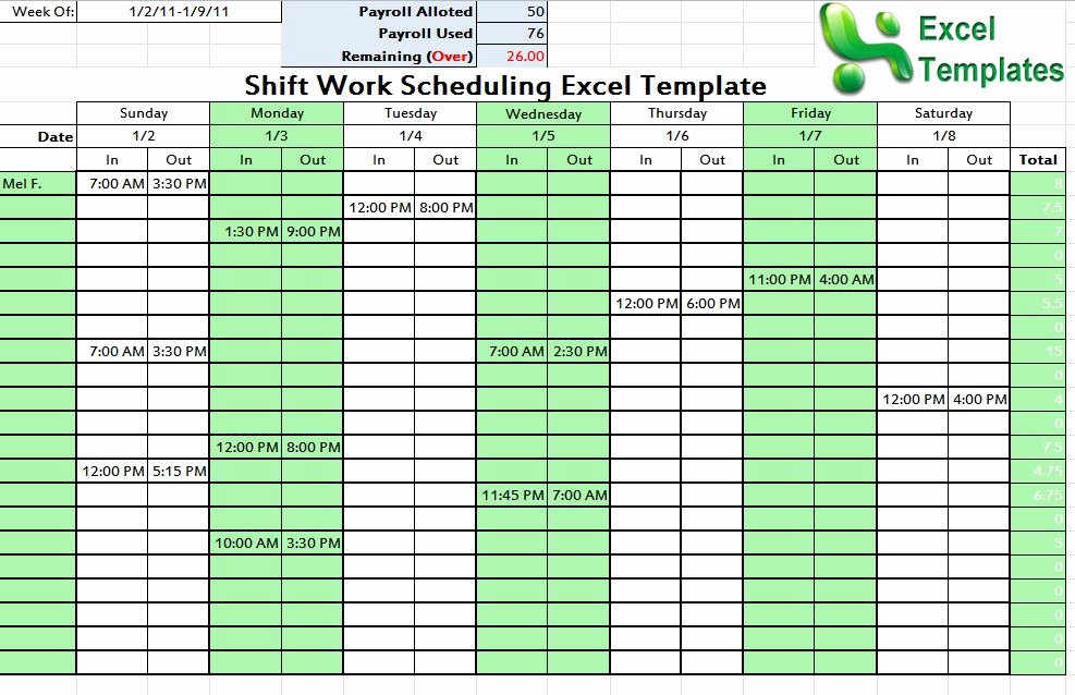 On Call Scheduling Template Awesome Call Schedule Template Excel