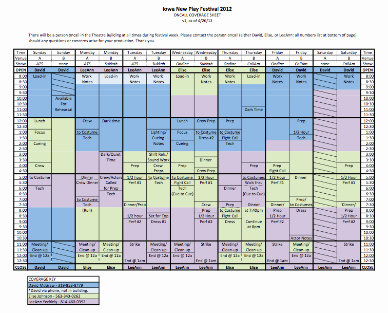 On Call Scheduling Template Inspirational Npf Call Schedule theatre Arts Uiowa Wiki