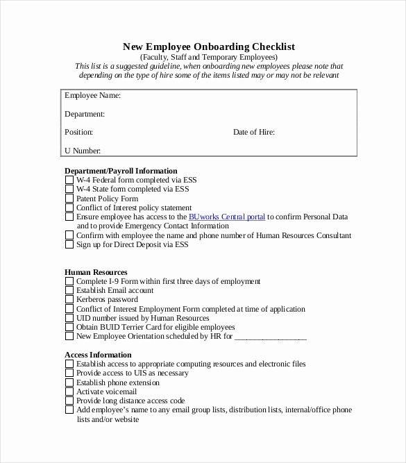 Onboarding Checklist Template Excel Elegant Boarding Checklist Template 17 Free Word Excel Pdf