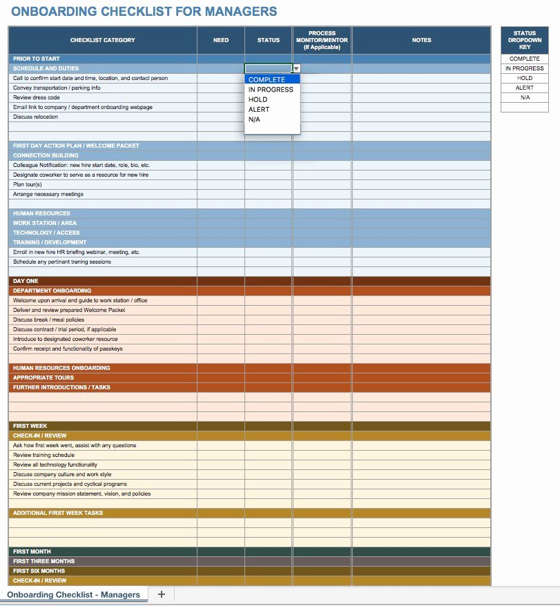 Onboarding Checklist Template Excel Inspirational Free Boarding Checklists and Templates