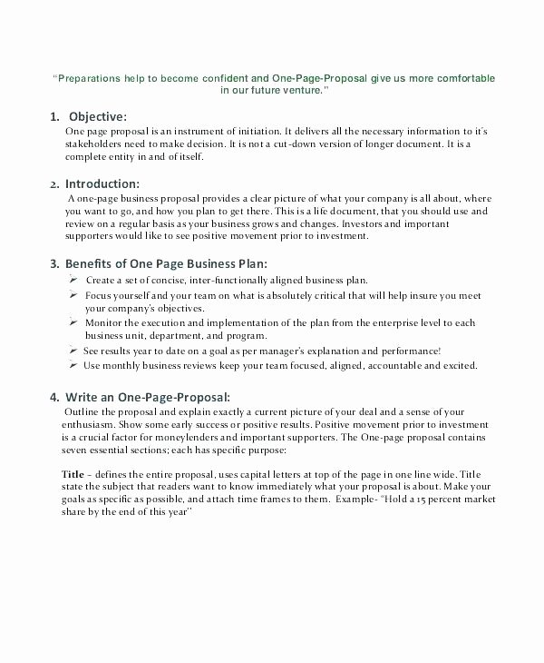 One Page Proposal Template Awesome 15 Simple Business Proposals