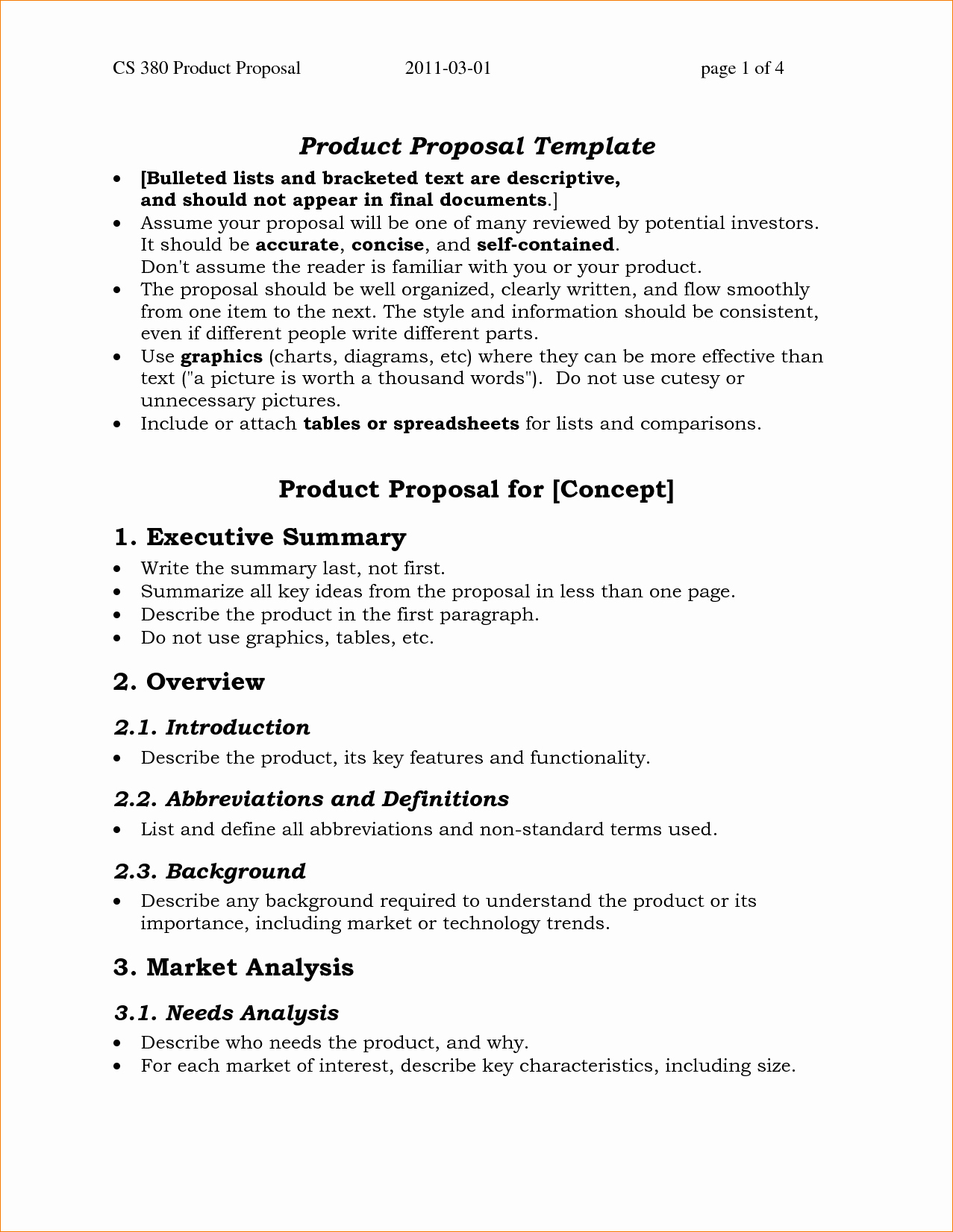 One Page Proposal Template Luxury E Page Summary Template Portablegasgrillweber