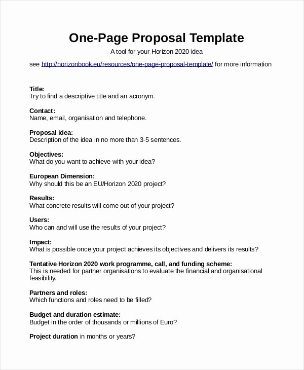 One Page Proposal Template Luxury Proposal Template 31 Free Word Pdf Indesign format