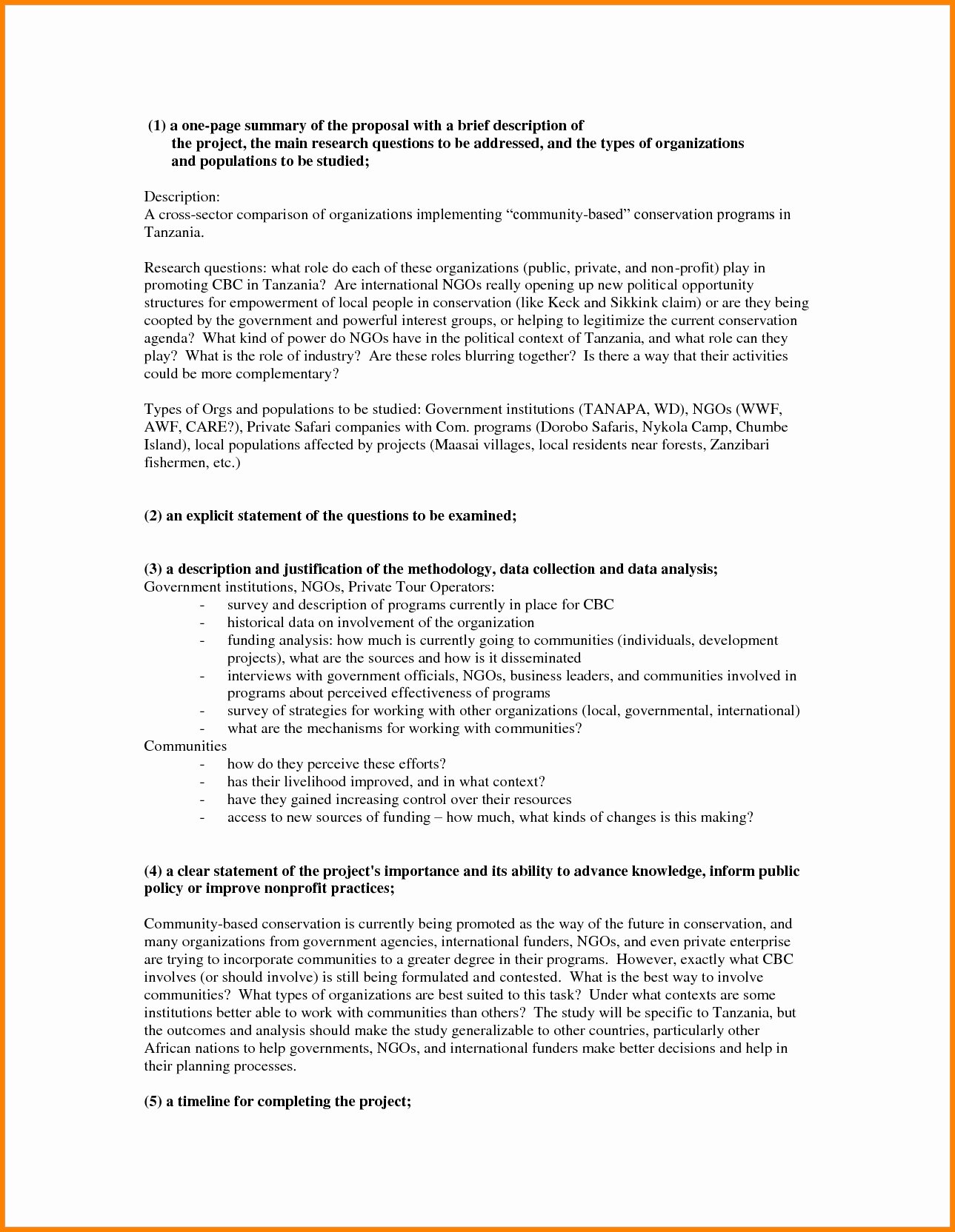 One Page Proposal Template Unique E Page Project Proposal