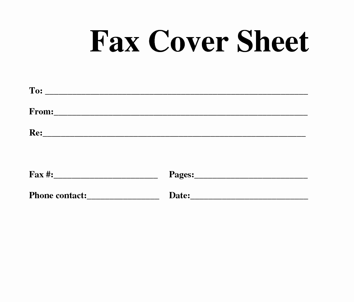 One Sheet Template Free Elegant Free Fax Template
