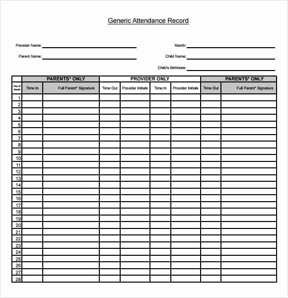 One Sheet Template Word Fresh 9 attendance Sheet Templates Word Excel Pdf formats
