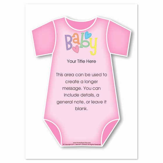 Onesie Invitation Template Printable Unique Pink Baby Esie Invitations & Cards On Pingg