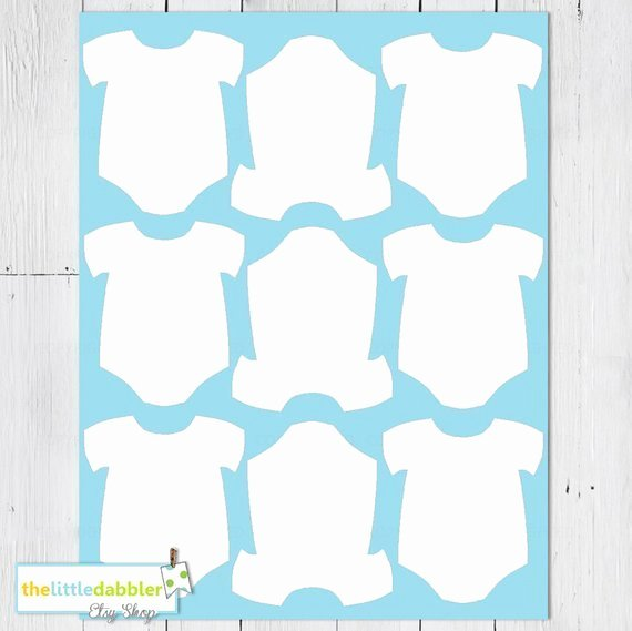 Onesies Template Printable Free Awesome Baby E Piece Templates thelittledabbler