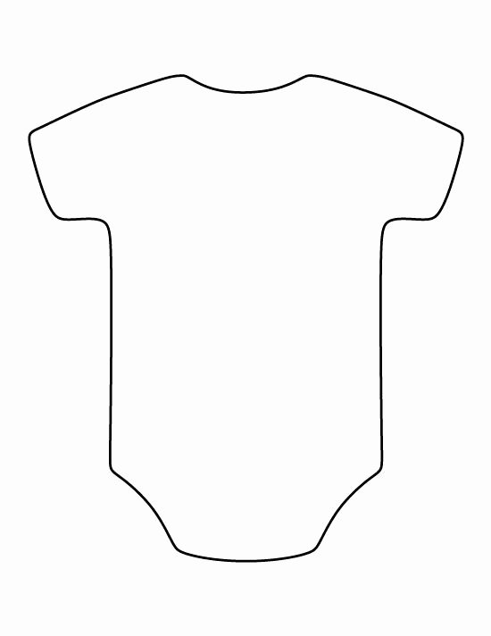 Onesies Template Printable Free New Esie Pattern Use the Printable Outline for Crafts