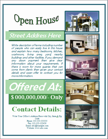 Open House Flyers Template Awesome Sample Open House Flyer Template