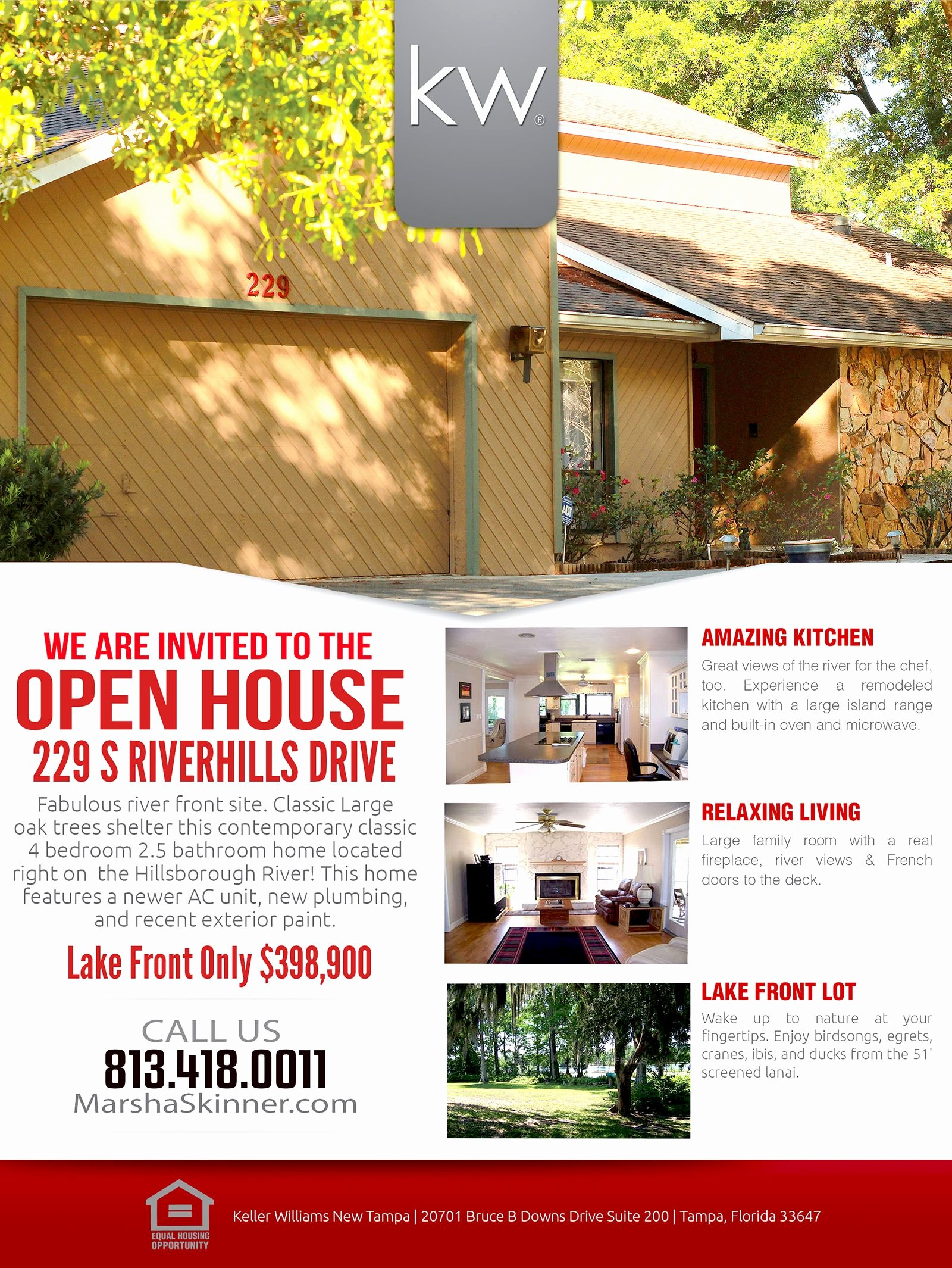 Open House Flyers Template Awesome Temple Terrace Open House Flyer Marsha Skinner