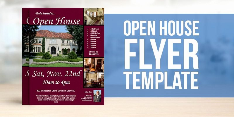 Open House Flyers Template Beautiful Free Open House Flyer Template – to View & Download