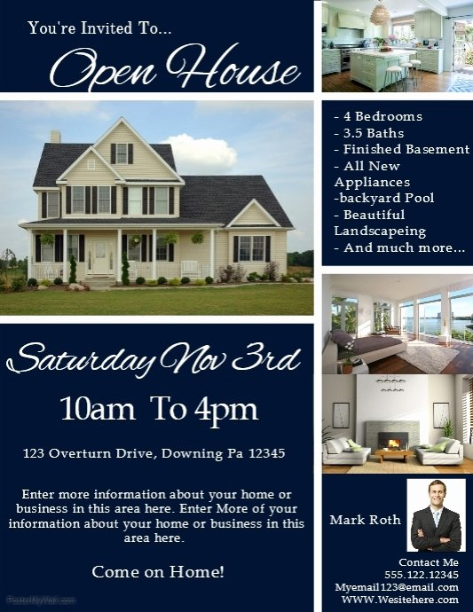 Open House Flyers Template Beautiful Real Estate Template