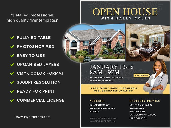 Open House Flyers Template Best Of Open House Flyer Template 2 Flyerheroes