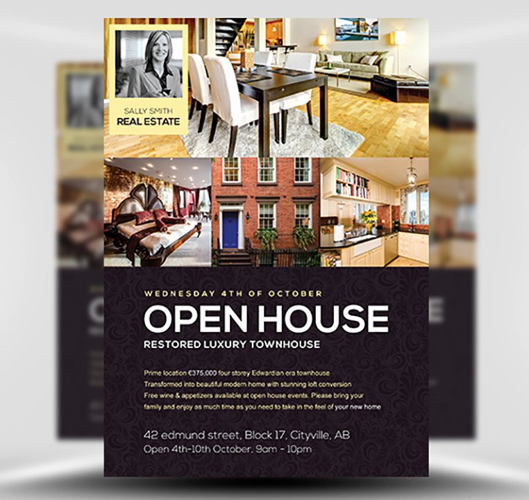 Open House Flyers Template Best Of Open House Flyer Template Flyerheroes
