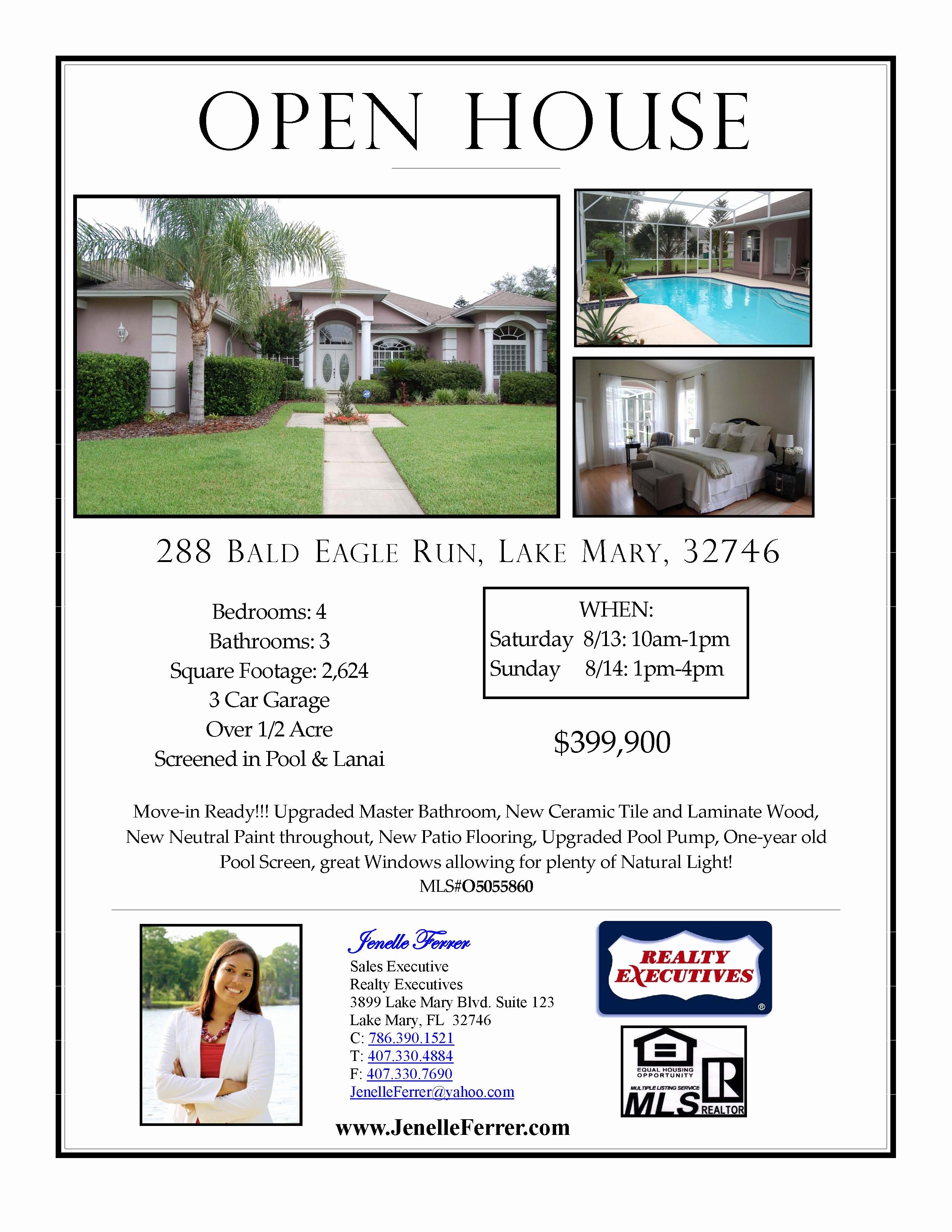 Open House Flyers Template Best Of Your Central Florida Realtor