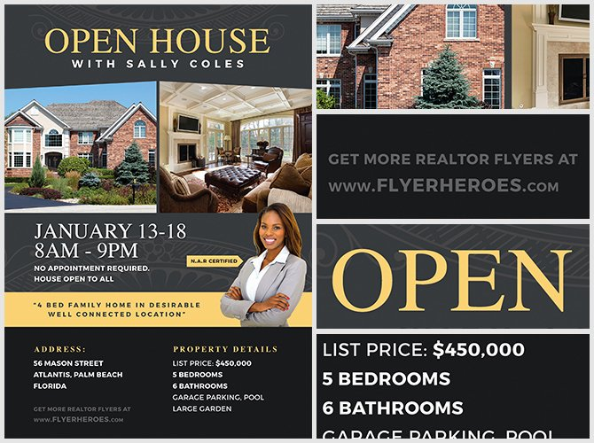 Open House Flyers Template Elegant Open House Flyer Template 2 Flyerheroes