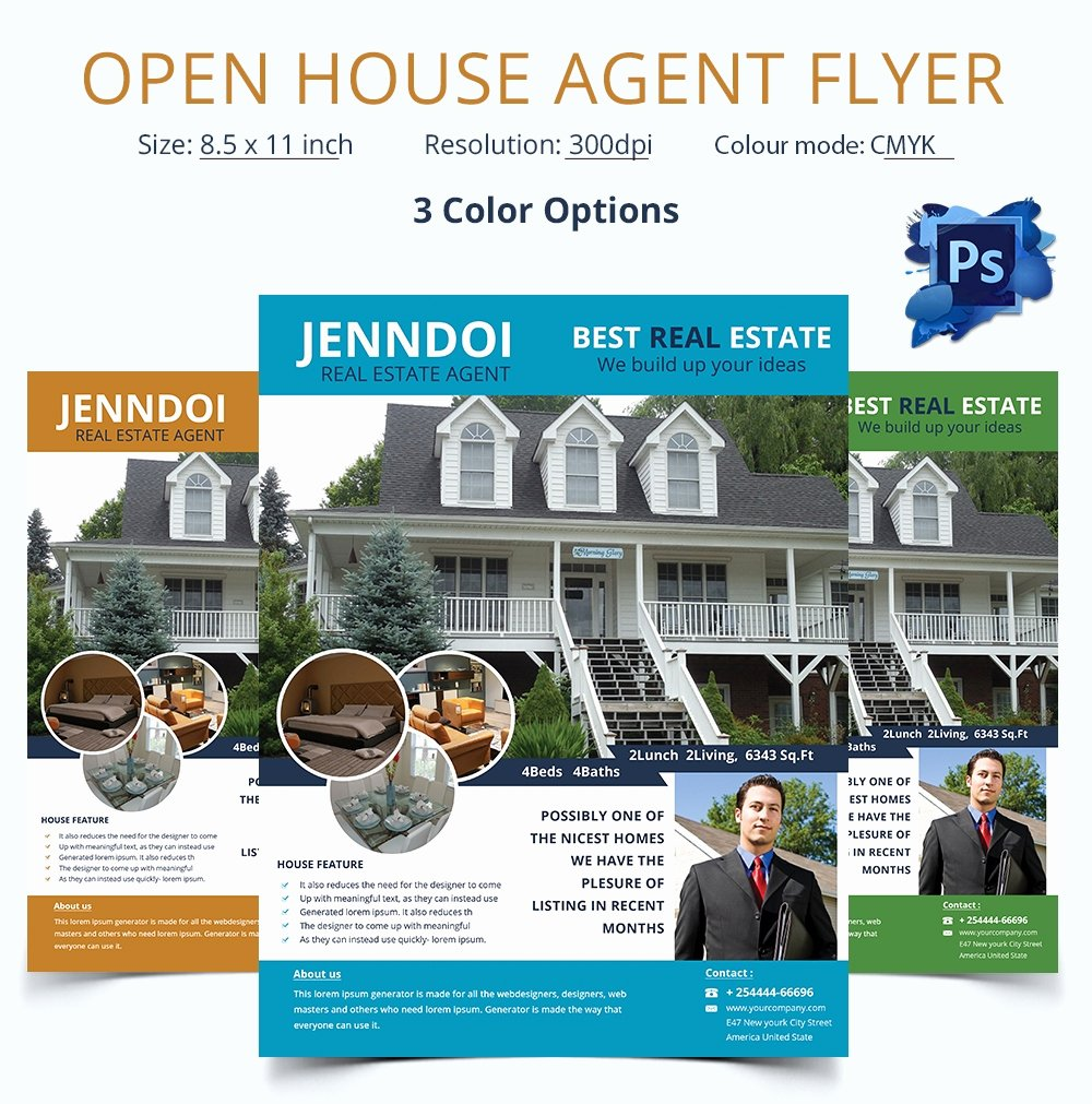 Open House Flyers Template Elegant Open House Flyer Template – 30 Free Psd format Download