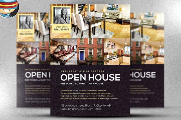 Open House Flyers Template Inspirational Open House Flyer Template Flyer Templates On Creative Market