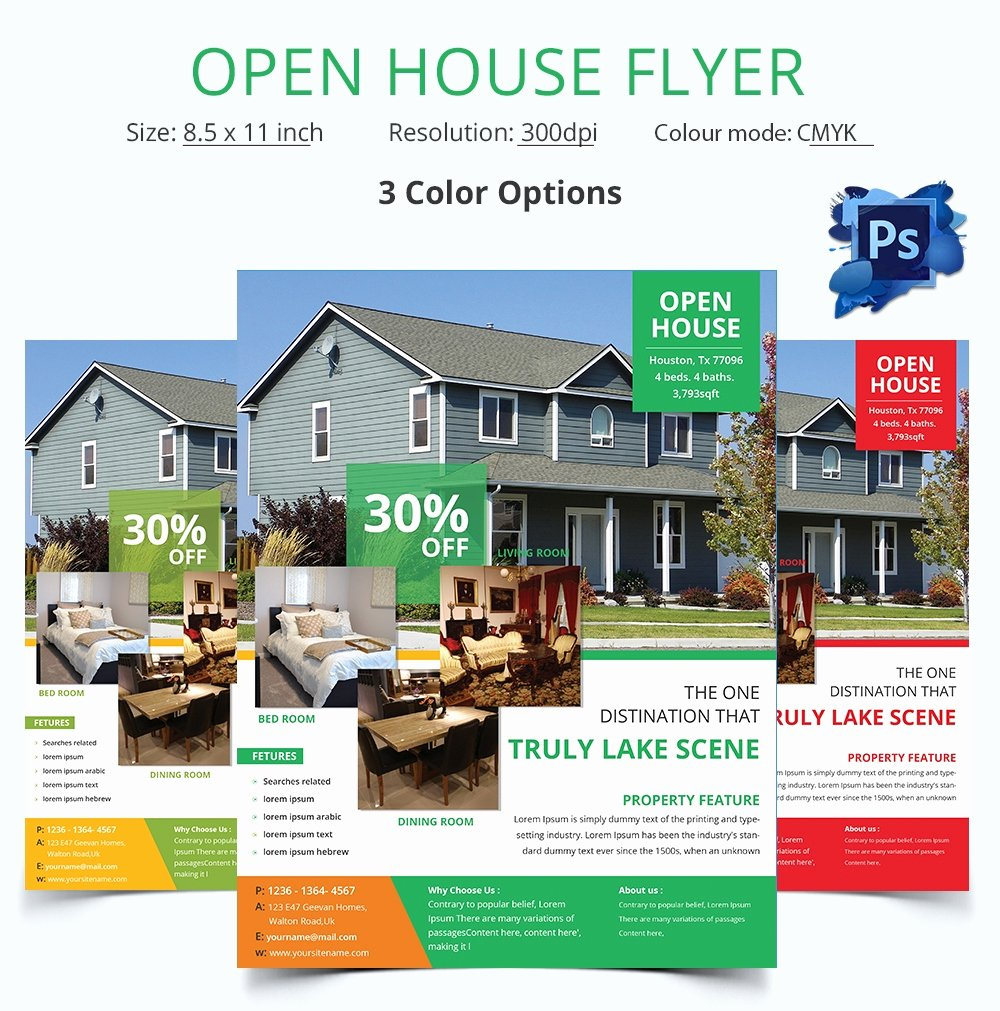 Open House Flyers Template Luxury Open House Flyer Template – 30 Free Psd format Download