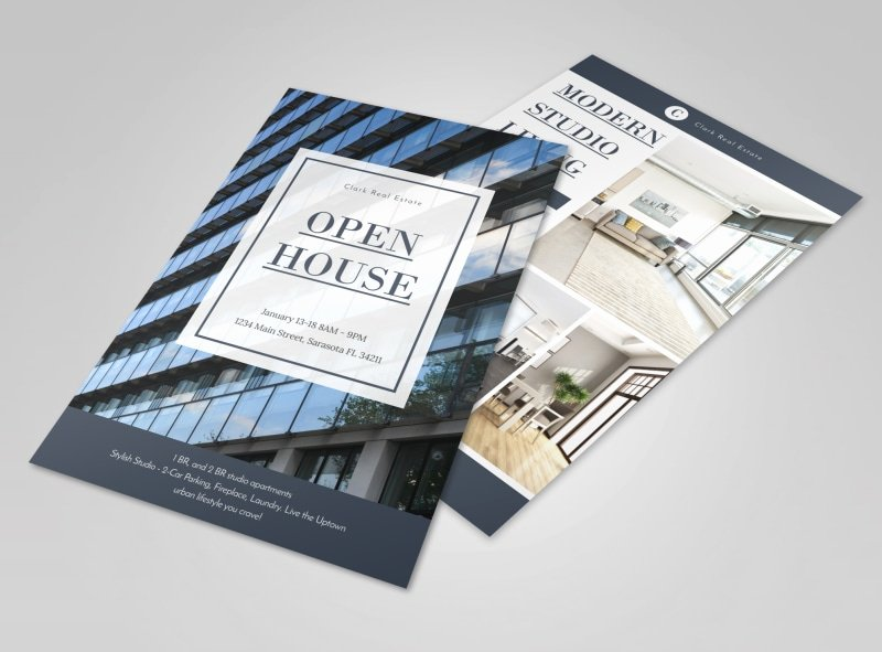 Open House Flyers Template Unique Condo Real Estate Open House Flyer Template