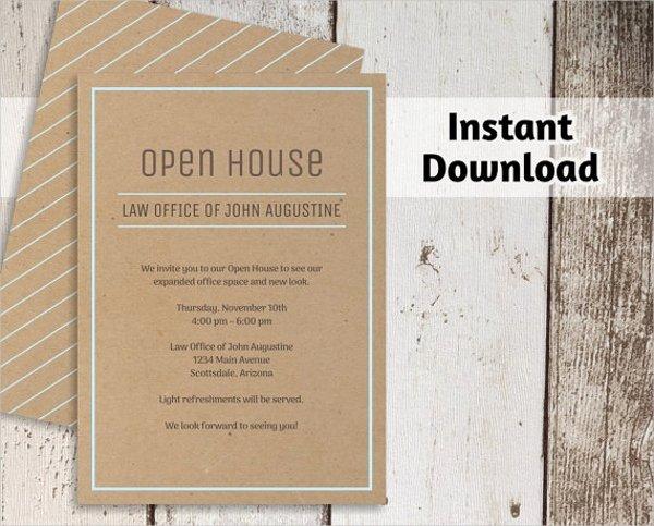 Open House Invitation Template Awesome 25 Invitation Templates