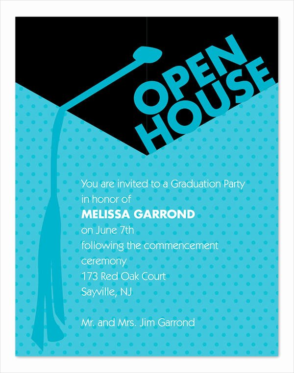 Open House Invitation Template Awesome 45 Graduation Invitation Designs & Templates Psd Ai