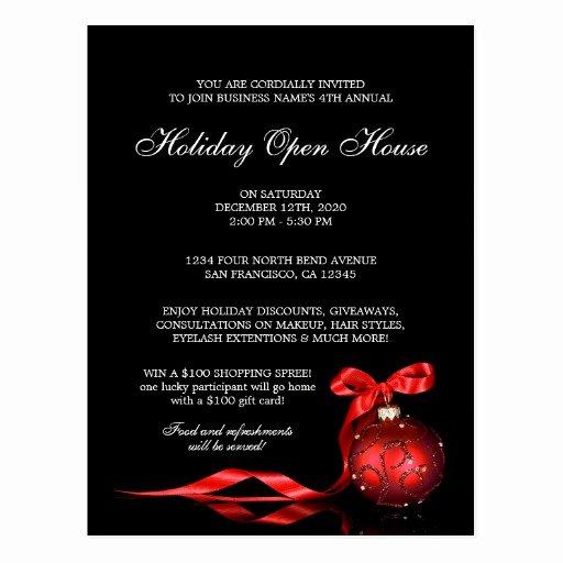 Open House Invitation Template Beautiful Elegant Holiday Open House Invitation Templates Postcard