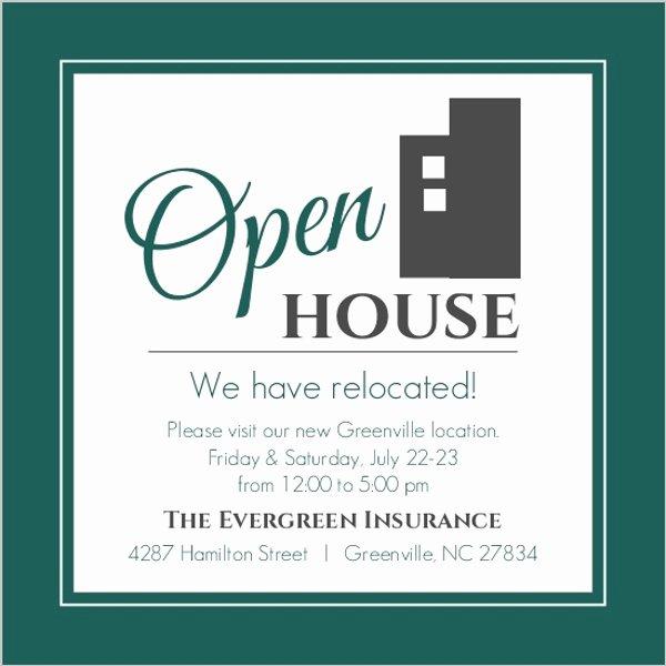 Open House Invitation Template Beautiful Modern Everygreen Business Open House Invitation