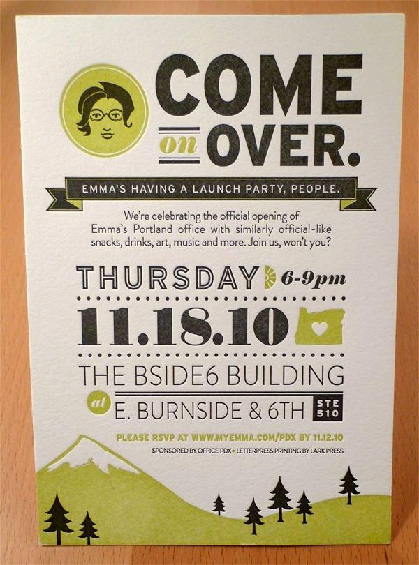Open House Invitation Template Best Of Emma Inc Portland Open House by Allison Davis Via