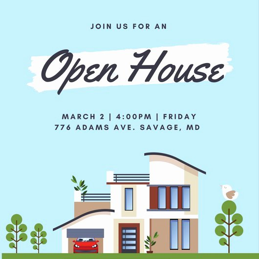 Open House Invitation Template Best Of Open House Invitation Templates Canva