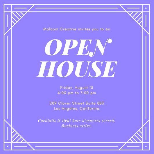 Open House Invitation Template Elegant Customize 127 Open House Invitation Templates Online Canva