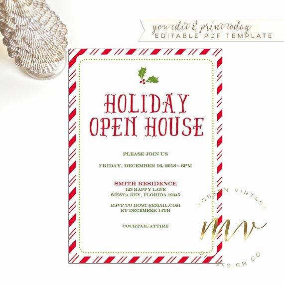 Open House Invitation Template Elegant Items Similar to Holiday Open House Invitation Template