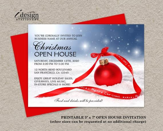 Open House Invitation Template Luxury Items Similar to Festive Business Holiday Open House