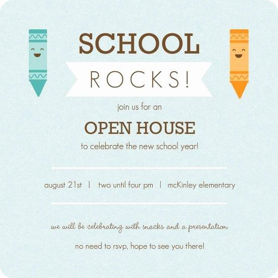 Open House Invitation Template New Kindergarten Roundup