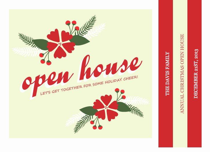 Open House Invitation Template Unique Ideas for Christmas Open House Invitations
