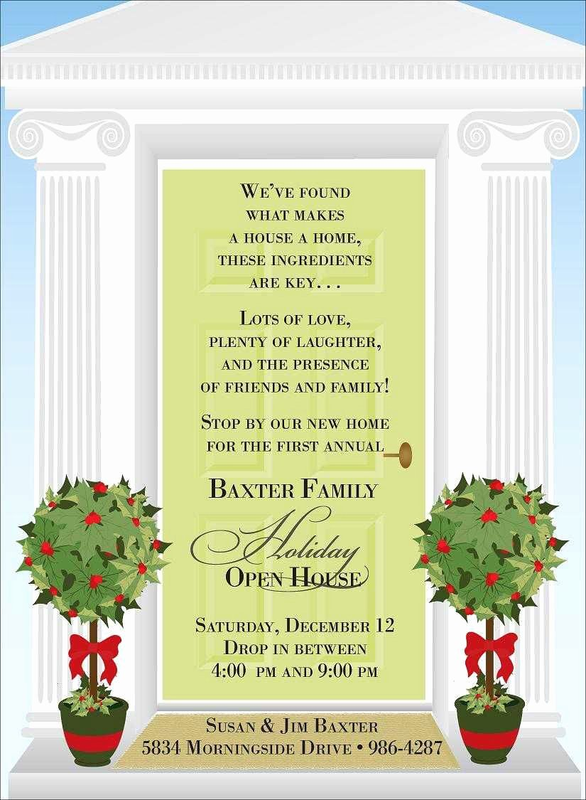 Open House Invite Template Best Of Christmas Open House Invitations
